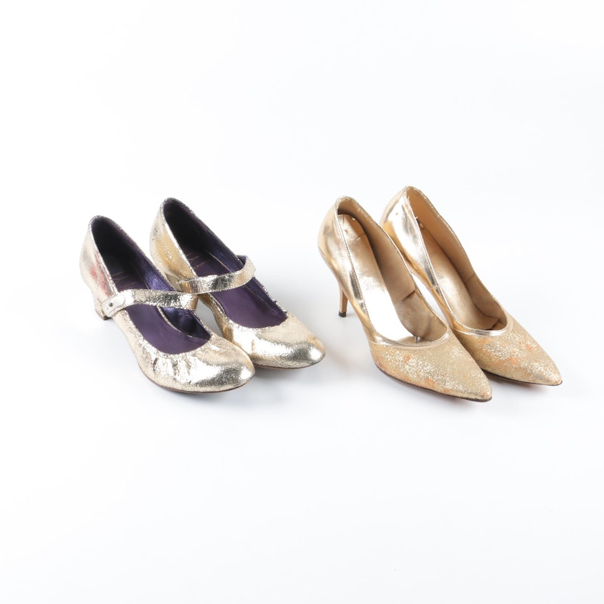 ebeee27414a1 Due Farina and Vintage Mr. Herbert Shoes   EBTH