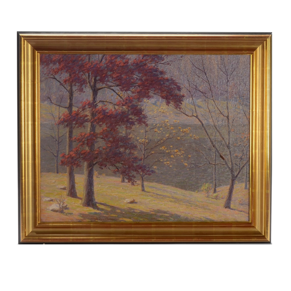 Andrew Thomas Schwartz Oil Painting of a Landscape