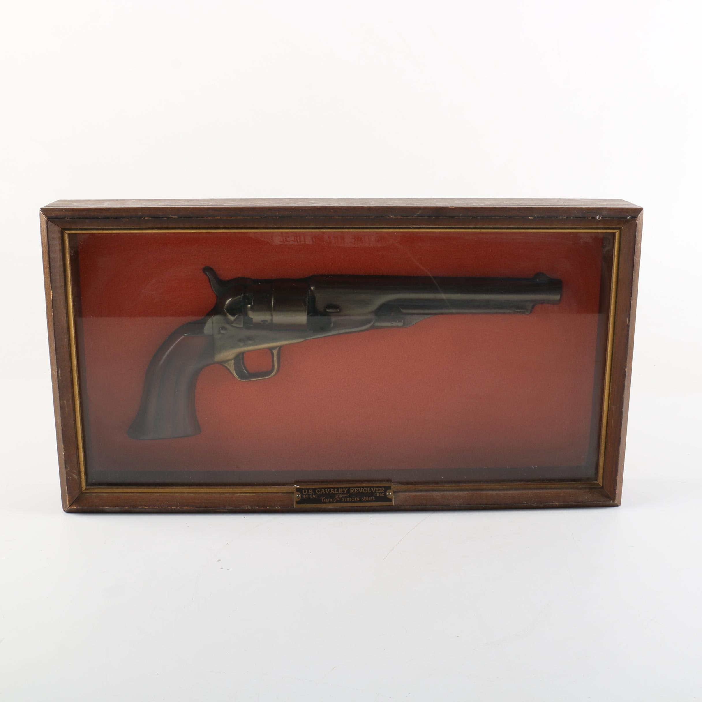Replica US Cavalry Revolver in Display Case from Teem Slinger Series