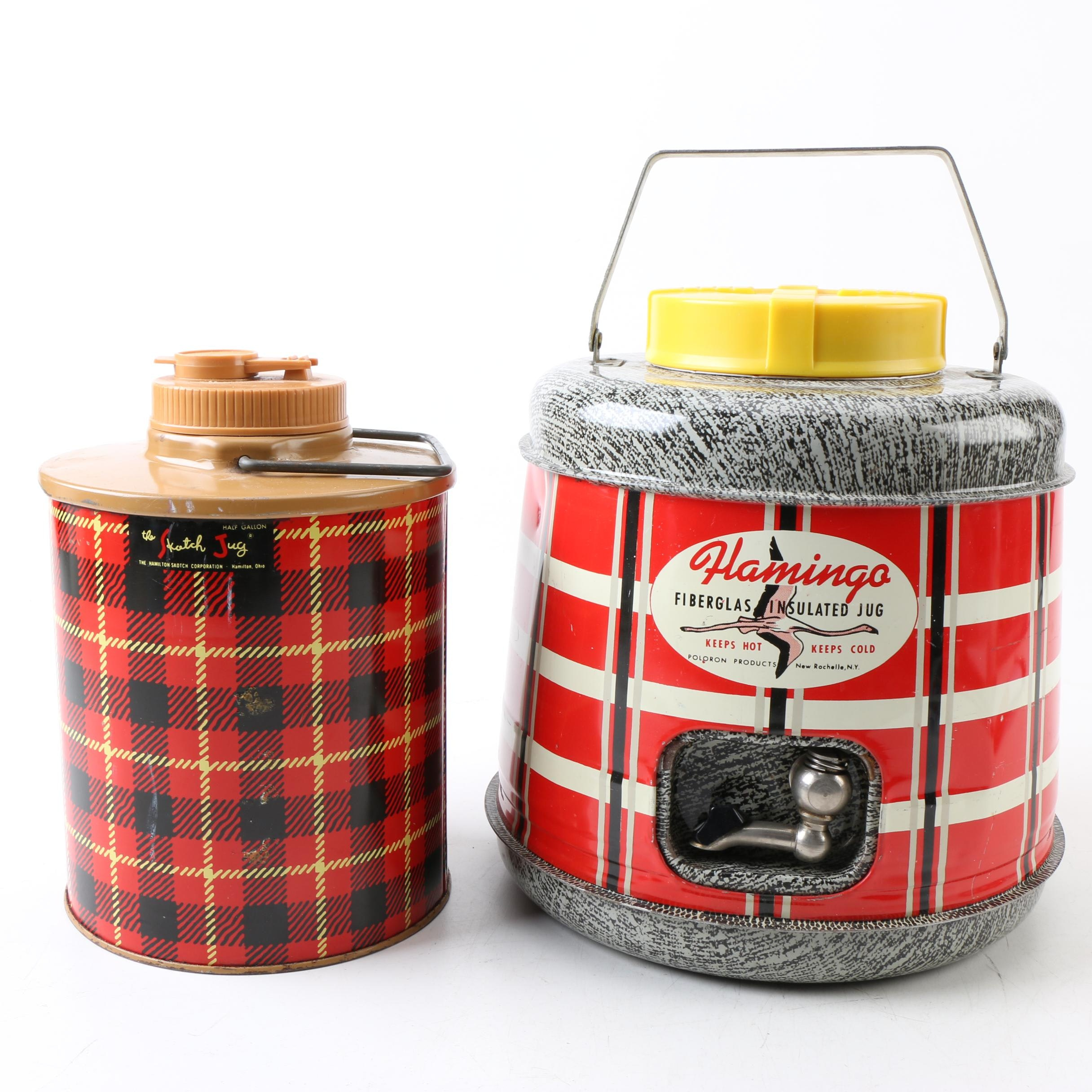 Mid Century Modern Insulated Camping Jugs