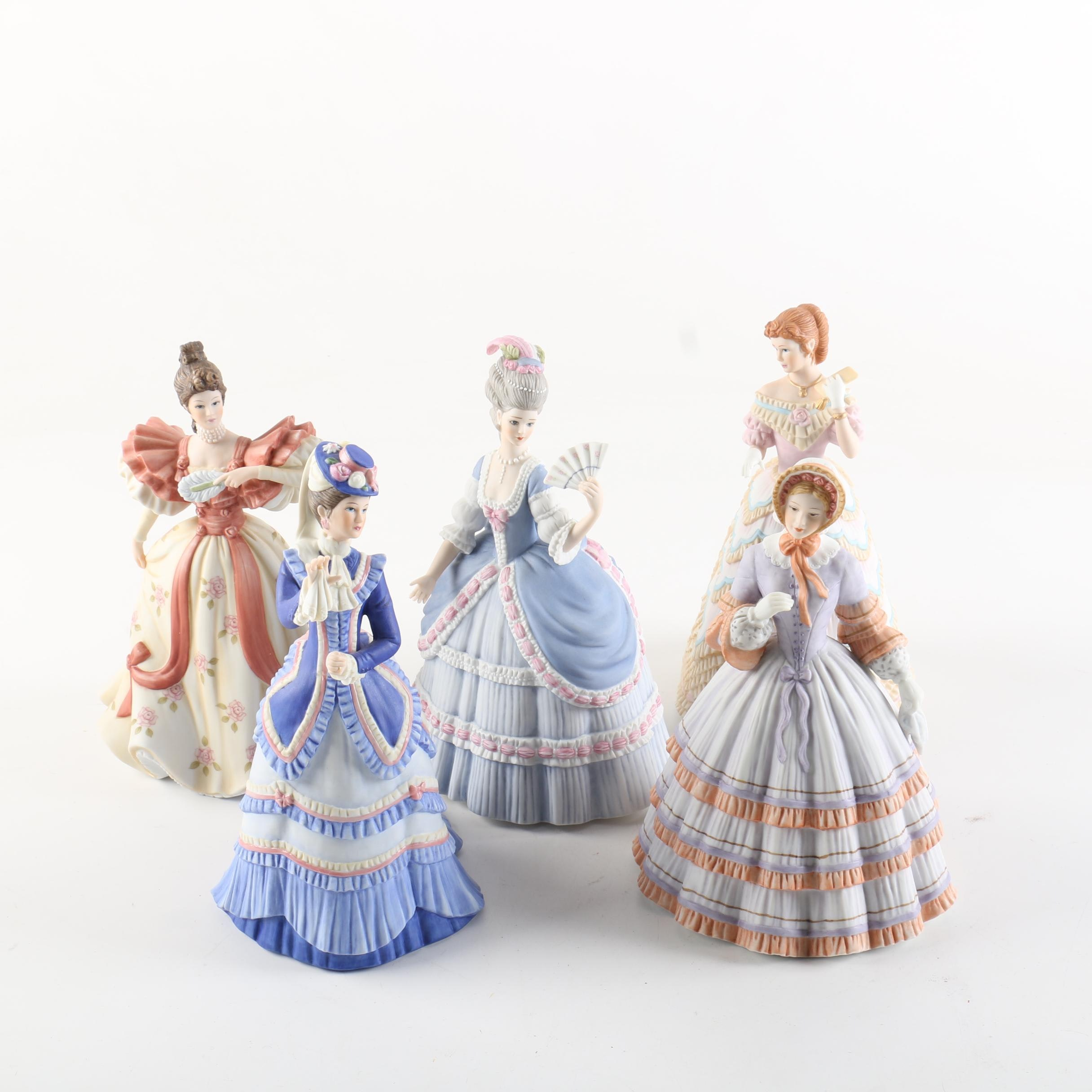 """Lenox Women Figurines, Including """"Grand Tour"""" and """"First Waltz"""""""