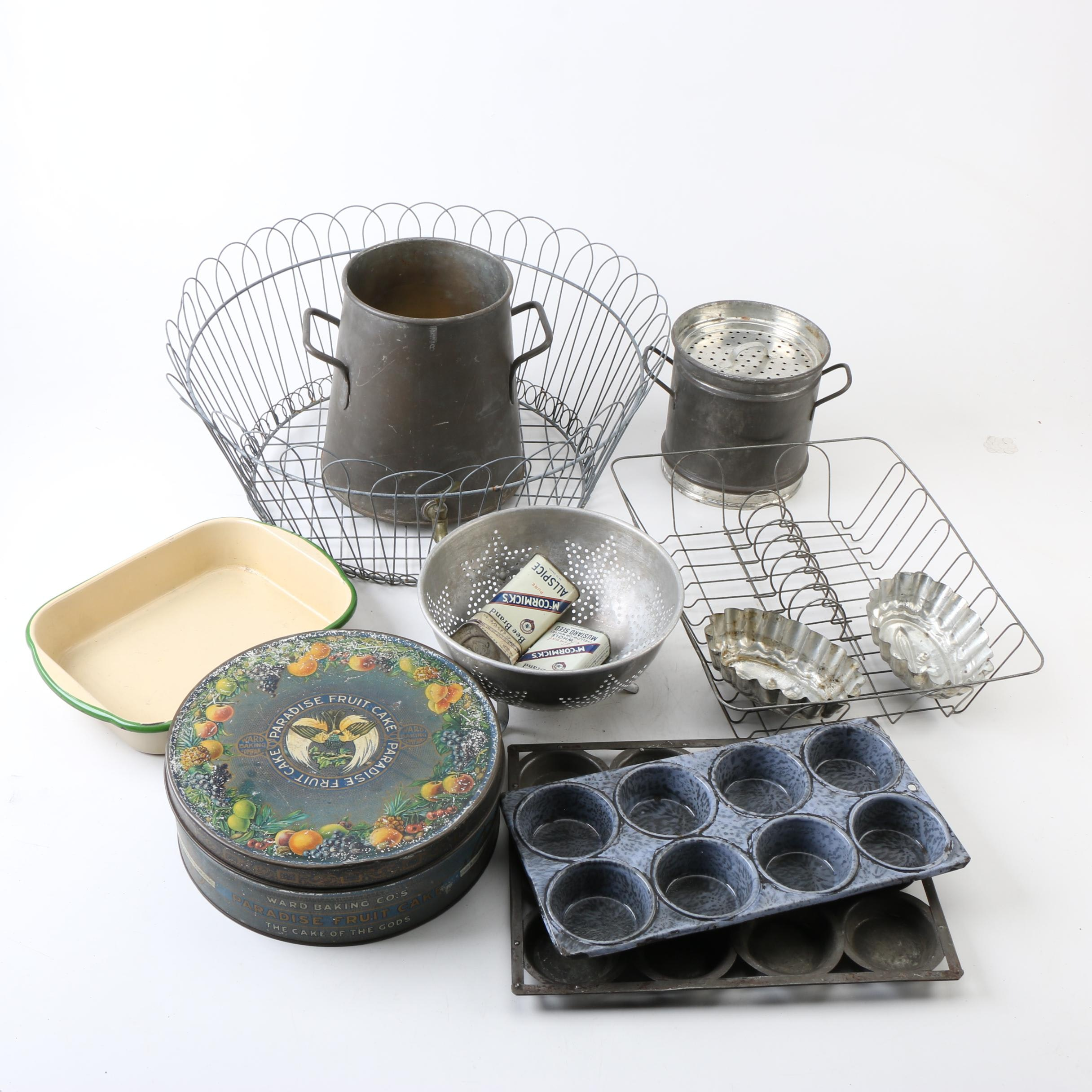 Vintage Bakeware with Molds and Other Kitchenware
