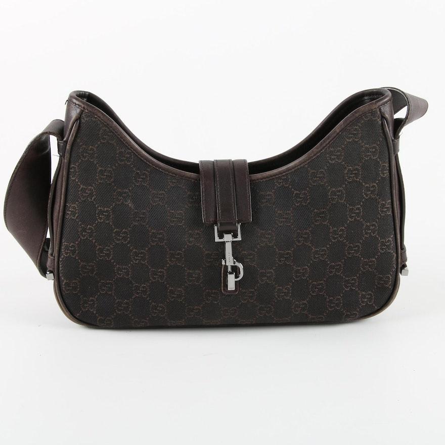 c74572e8cd7 Gucci Jackie Monogram Canvas Shoulder Bag   EBTH