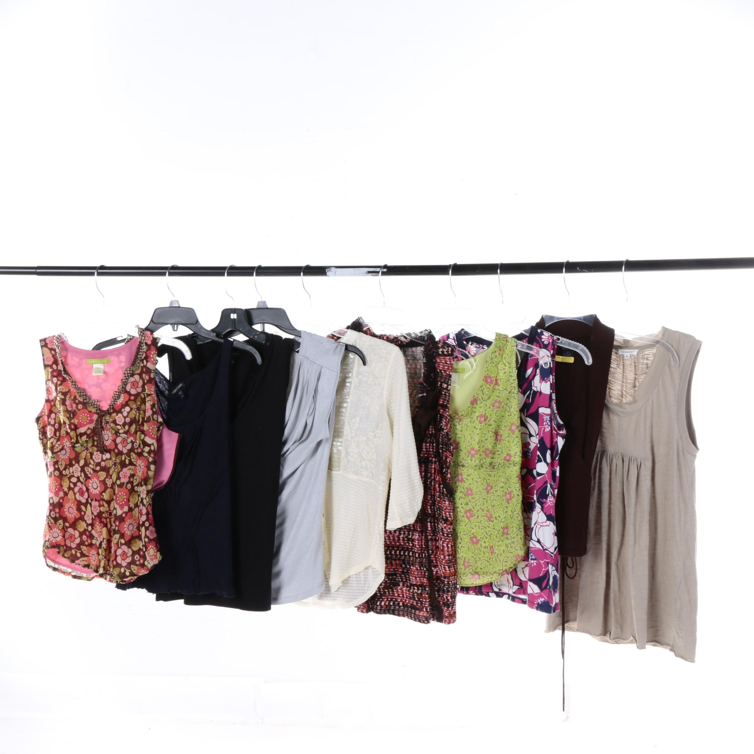 Women's Blouses and Tops Including Sigrid Olsen, Eileen Fisher