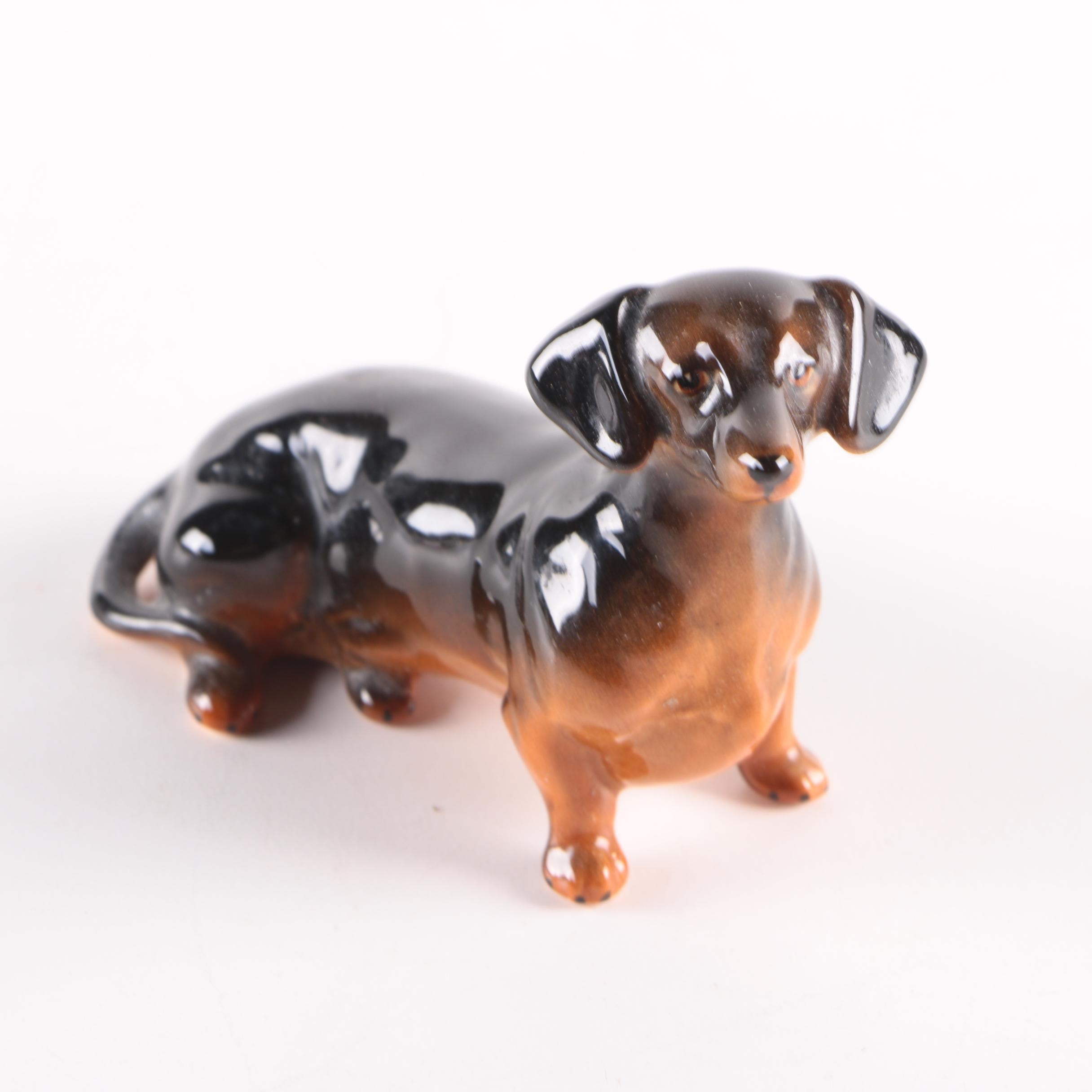 Vintage Beswick Ceramic Dachshund Figurine