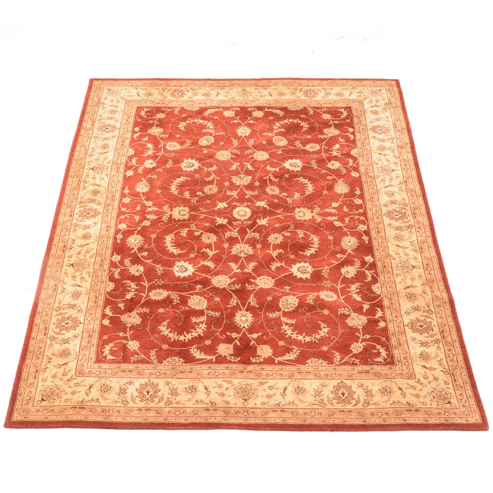 Persian Style Power Loomed Wool Room Size Area Rug