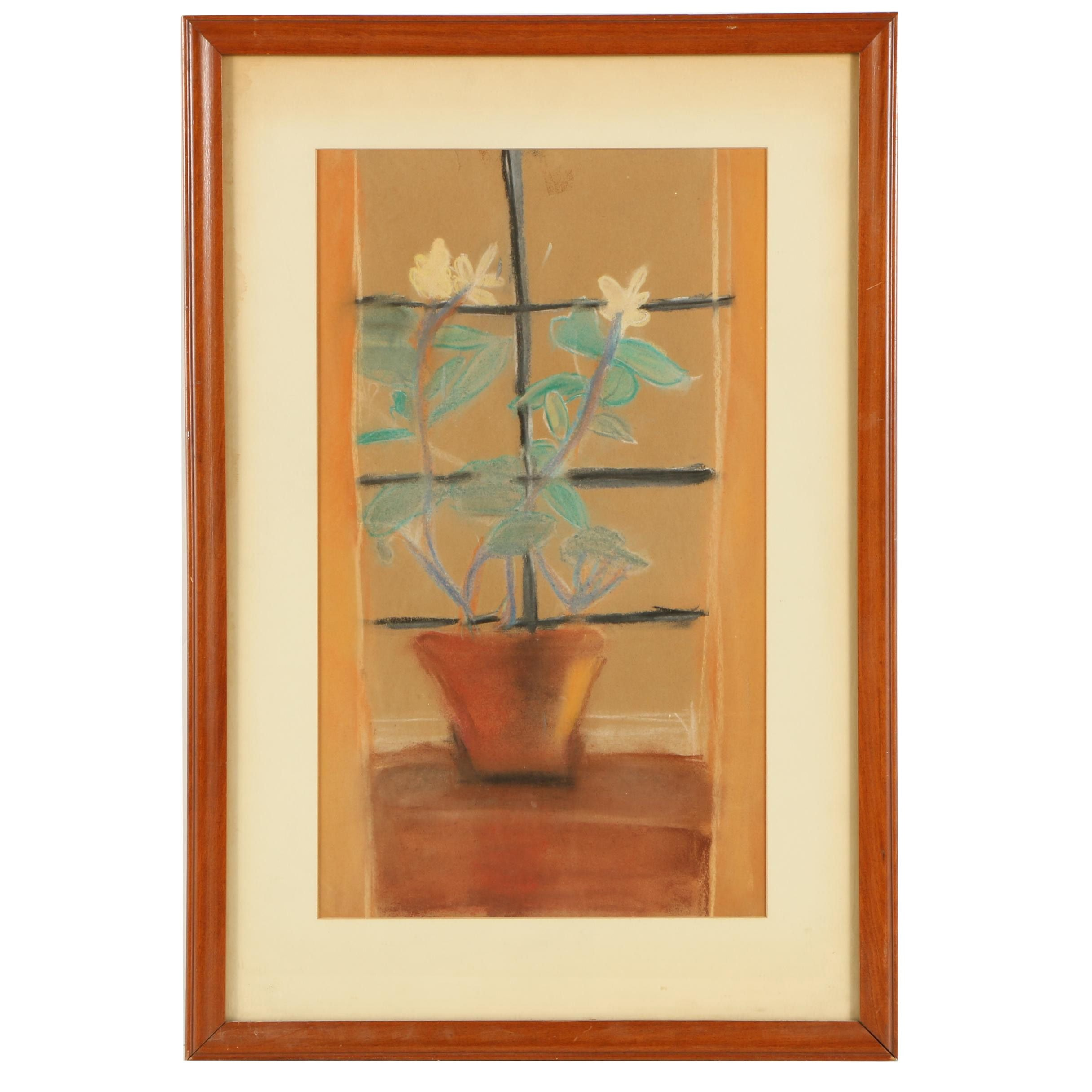 "Laura Furlong Pastel Drawing ""The Lemon Tree in the Window"""