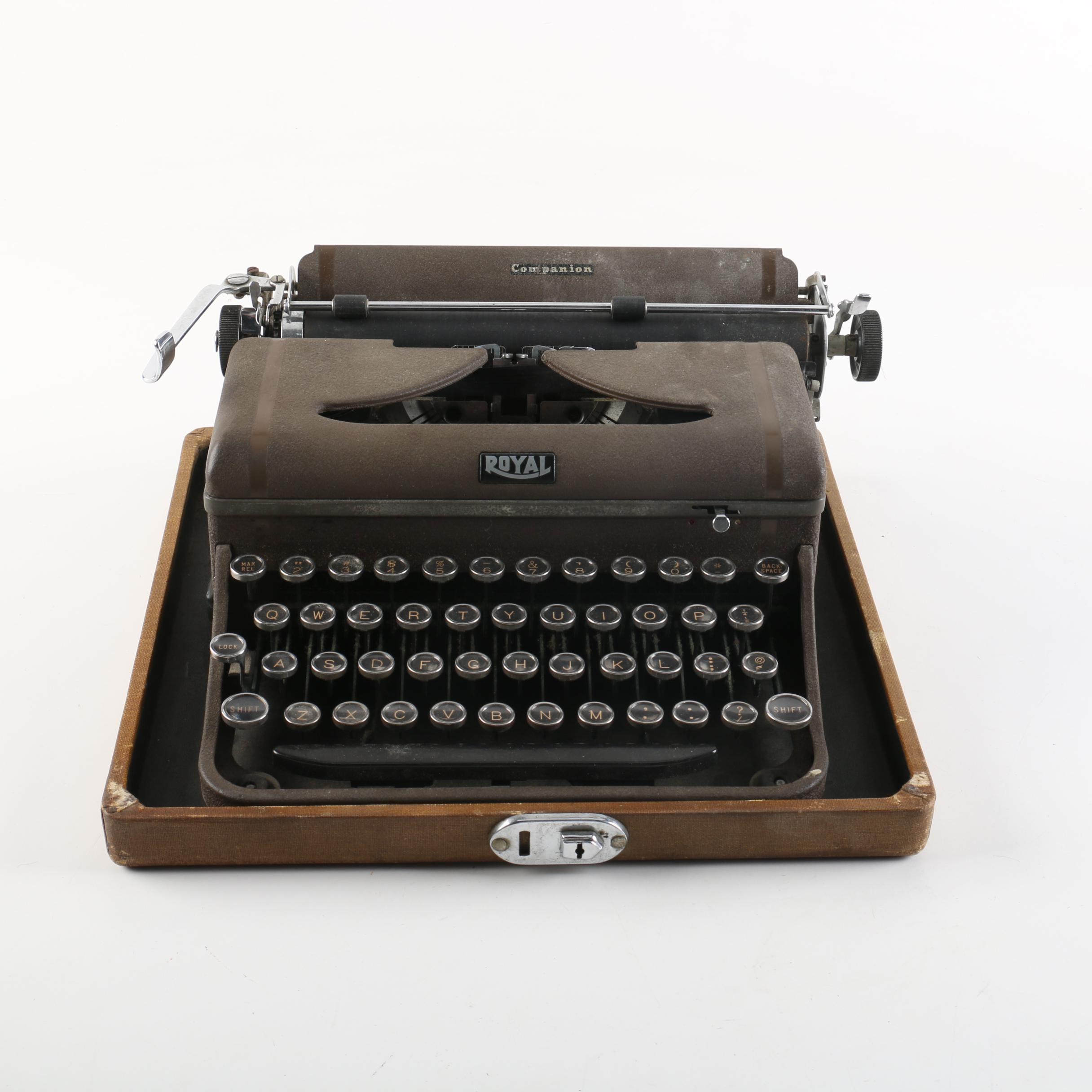 Vintage Royal Companion Typewriter