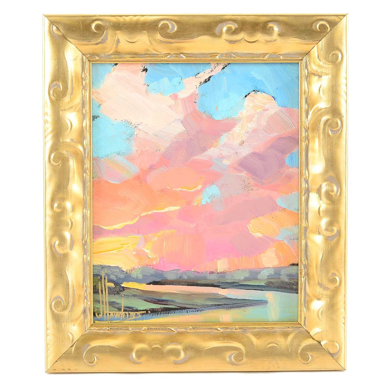 William Hawkins Original Oil Painting of a Landscape