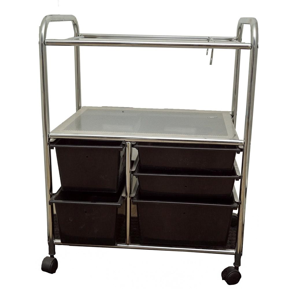 Rolling Metal Office Cart ...