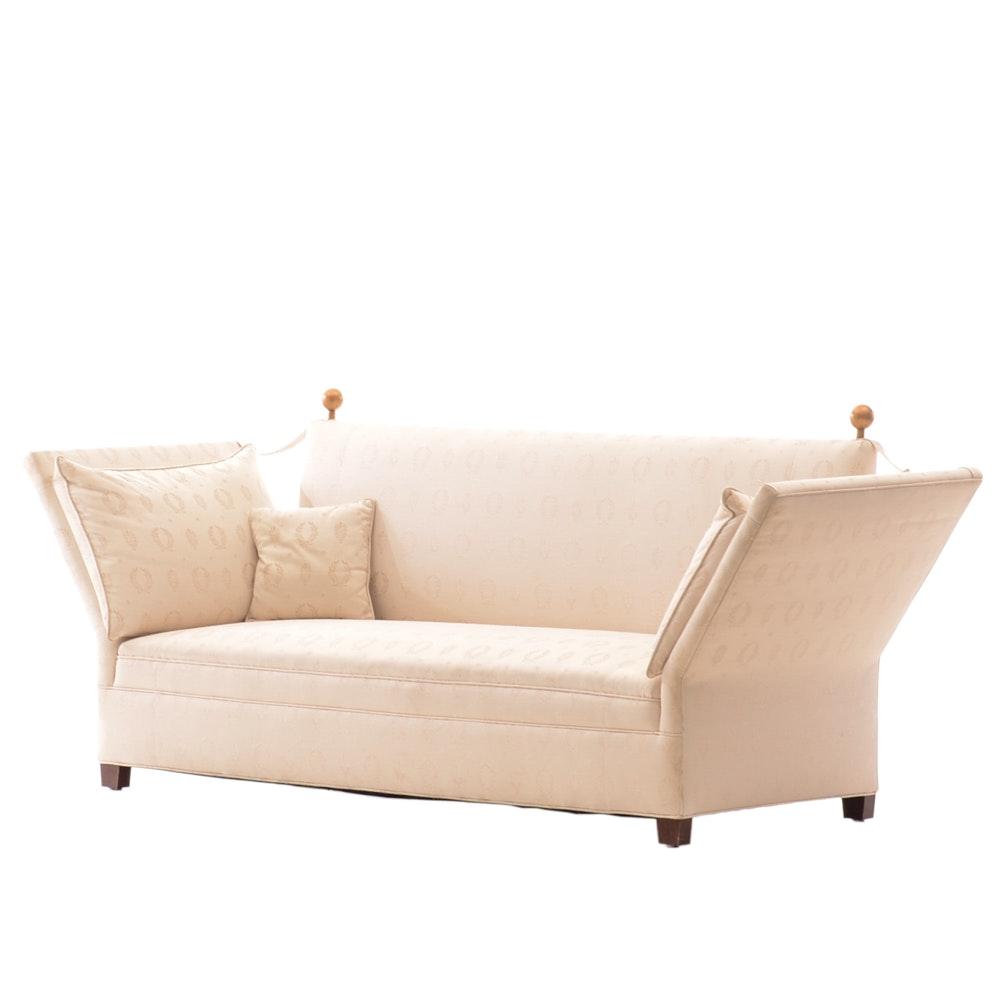 """Ivory-Upholstered """"Knole"""" Style Sofa"""