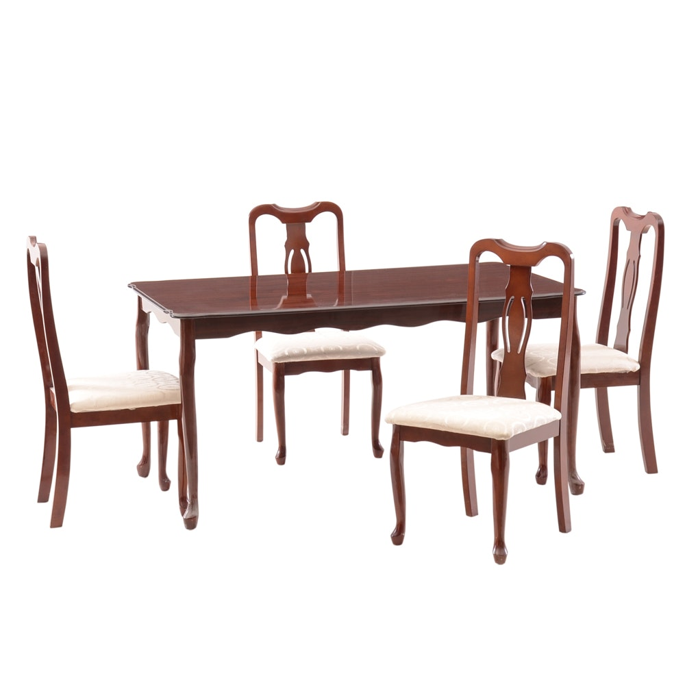 Queen Anne Style Dining Table and Chair Set