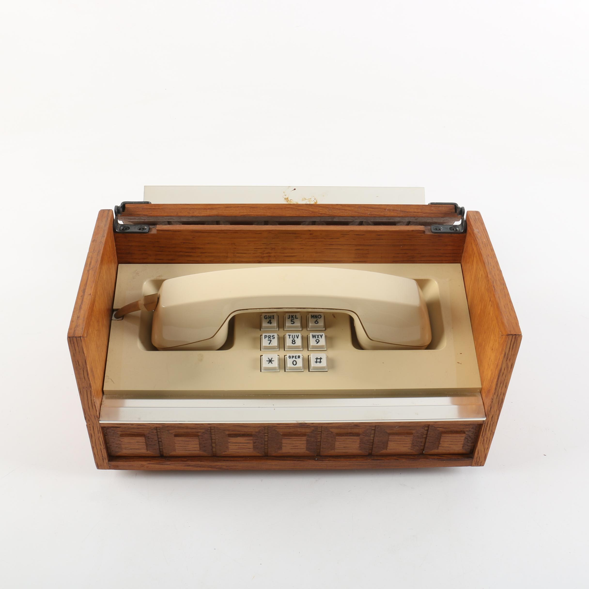 Vintage Western Electric Wood-Cased Telephone
