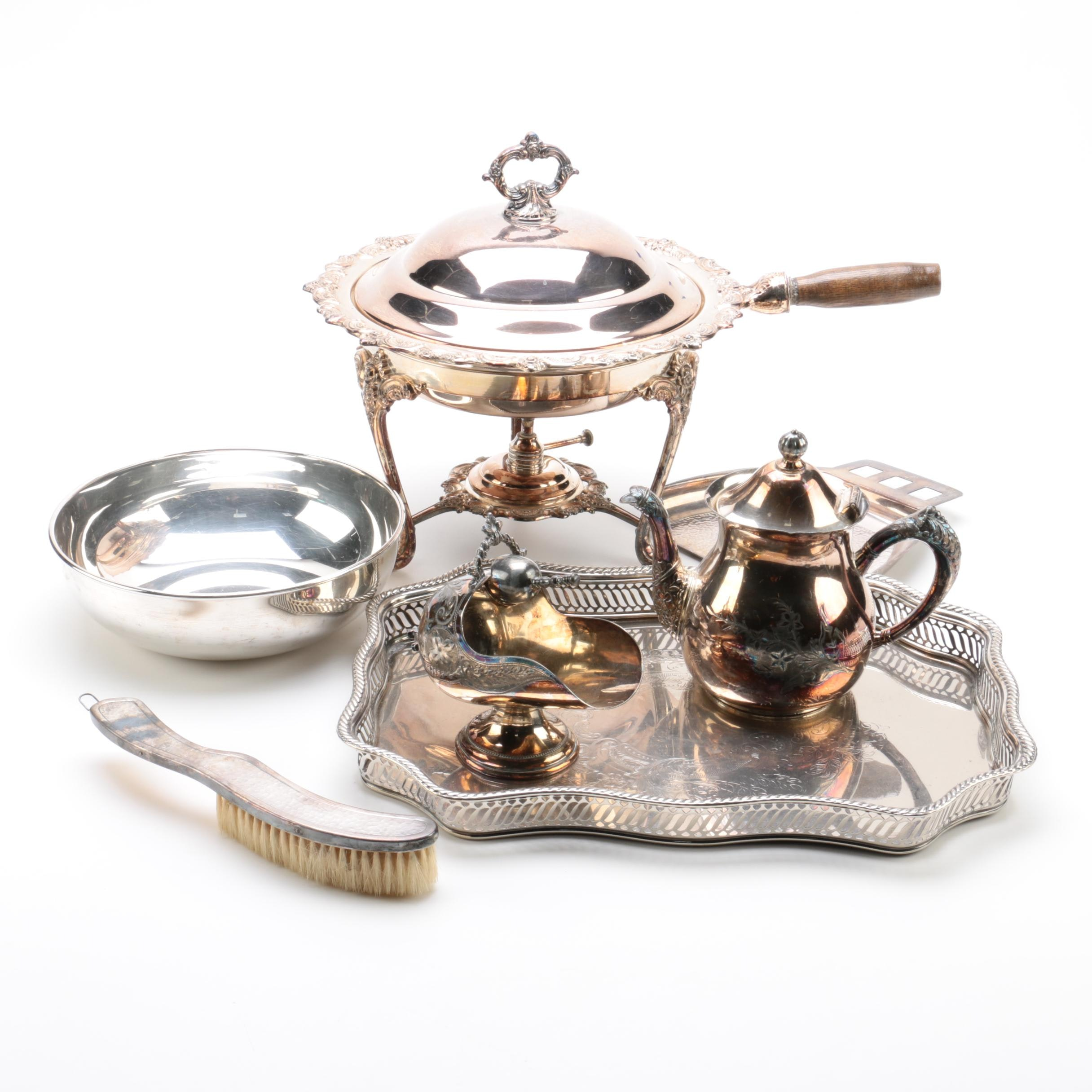 Warren Silver Plate Co. Silver Plate Teapot and Other Serveware