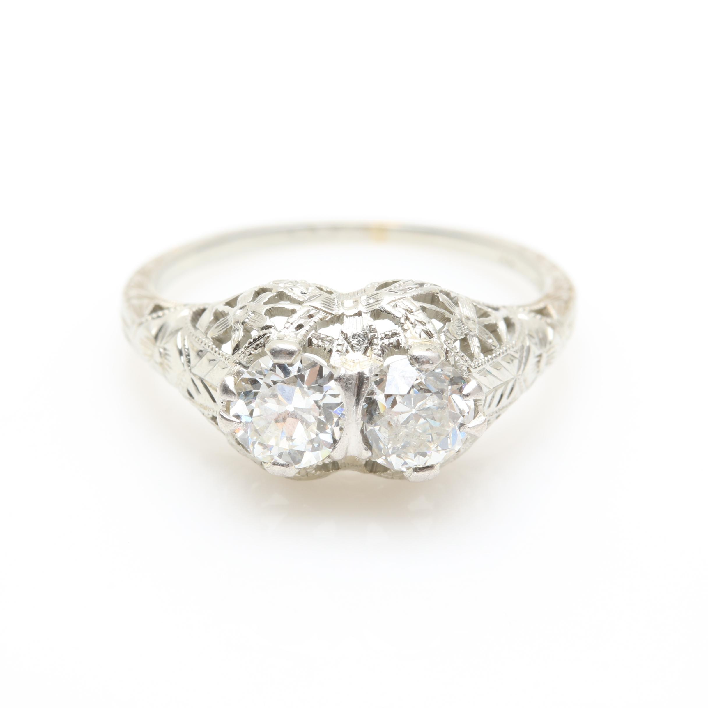 Barth Edwardian 18K White Gold Diamond Ring