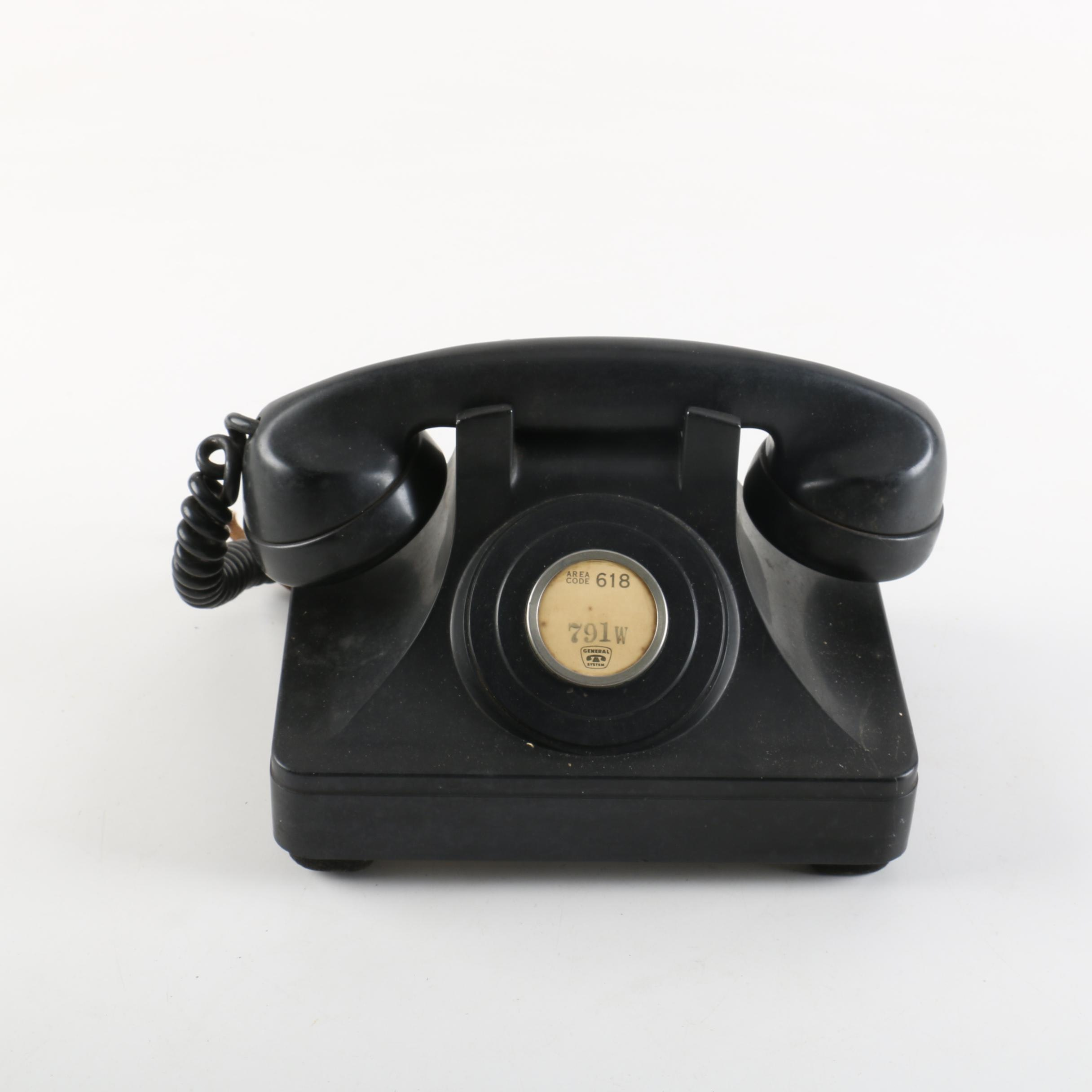 Vintage North Electric Single-Line Lobby Telephone