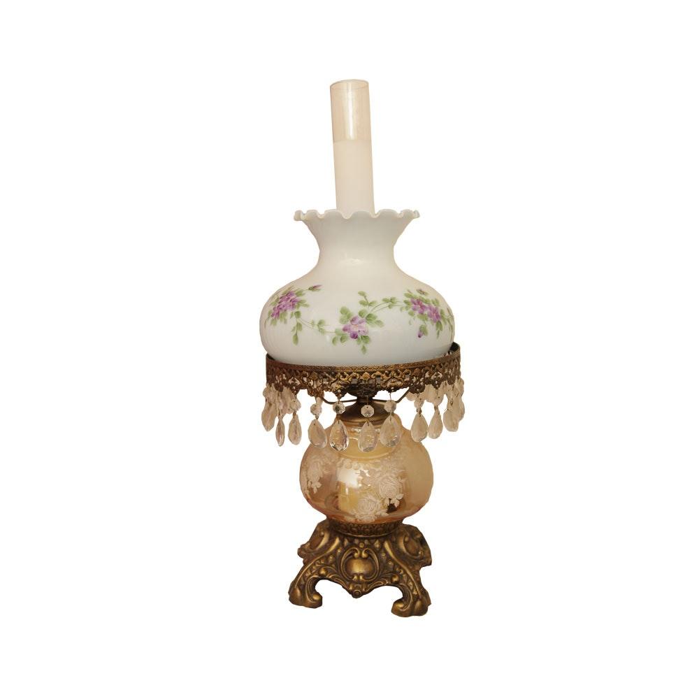 Vintage Converted Oil Lamp