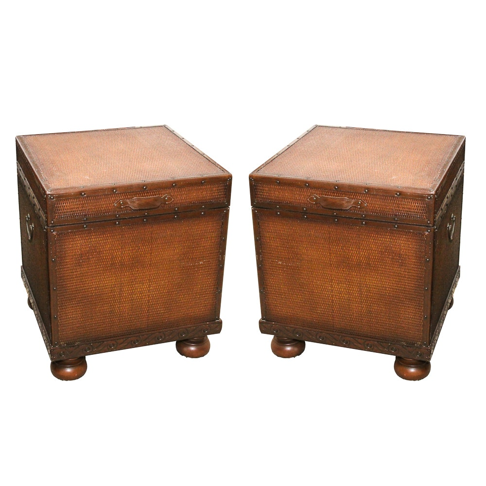 Pair of Storage Side Tables