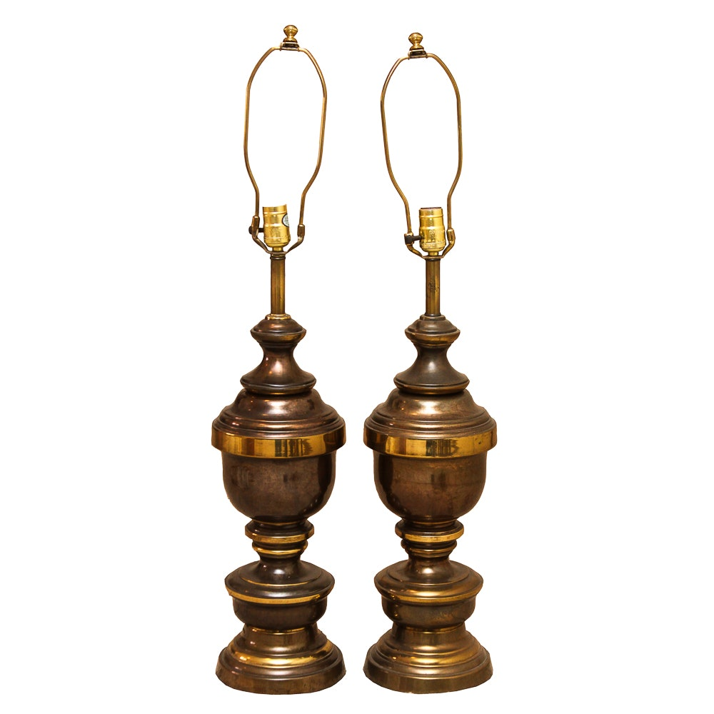 Vintage Brass Tone Table Lamps