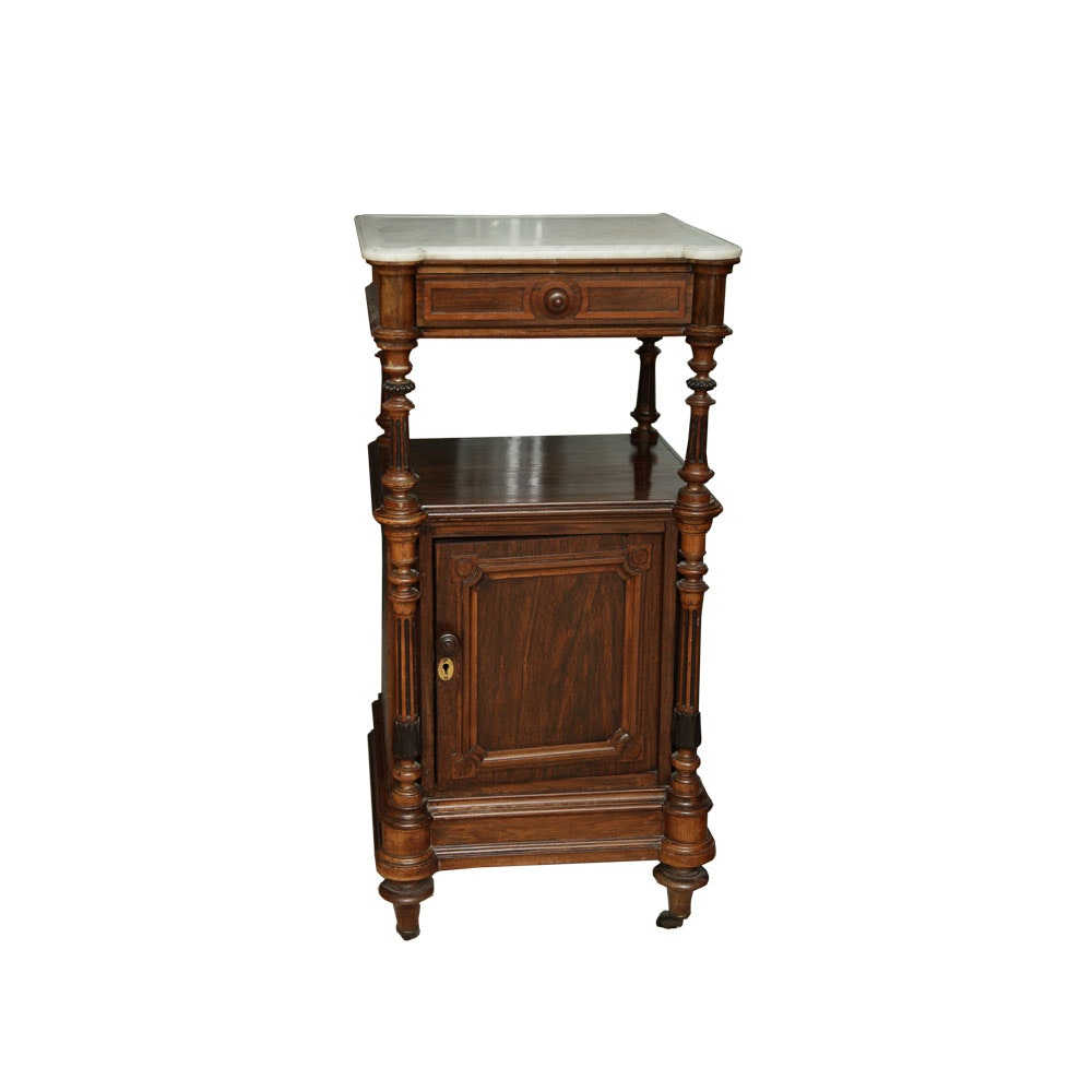 Antique French Victorian Mahogany Commode
