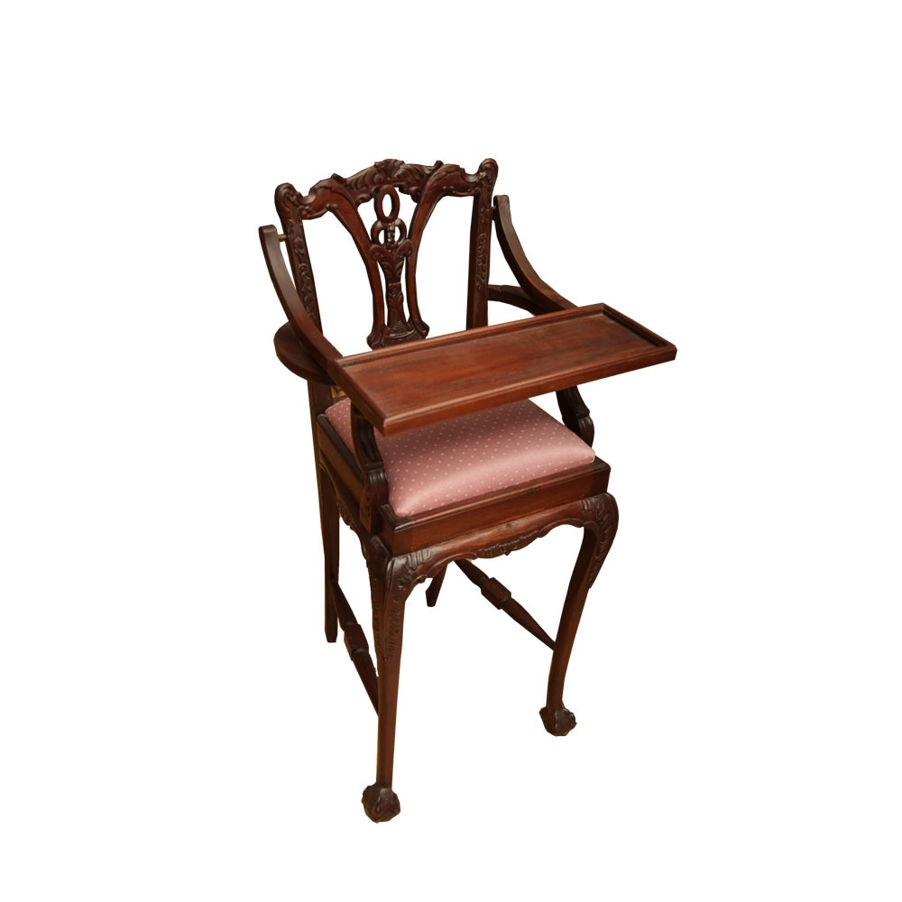 Chippendale Style Childu0027s High Chair ...