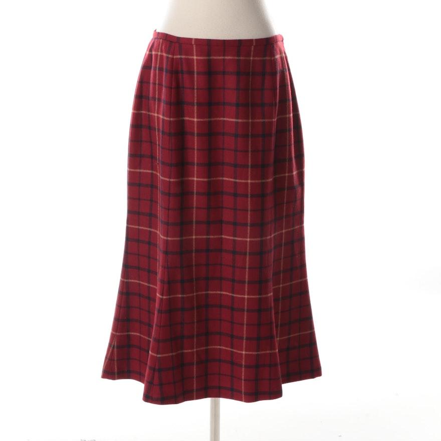 c90c3fa22a Women's Brooks Brothers Plaid Wool Skirt : EBTH
