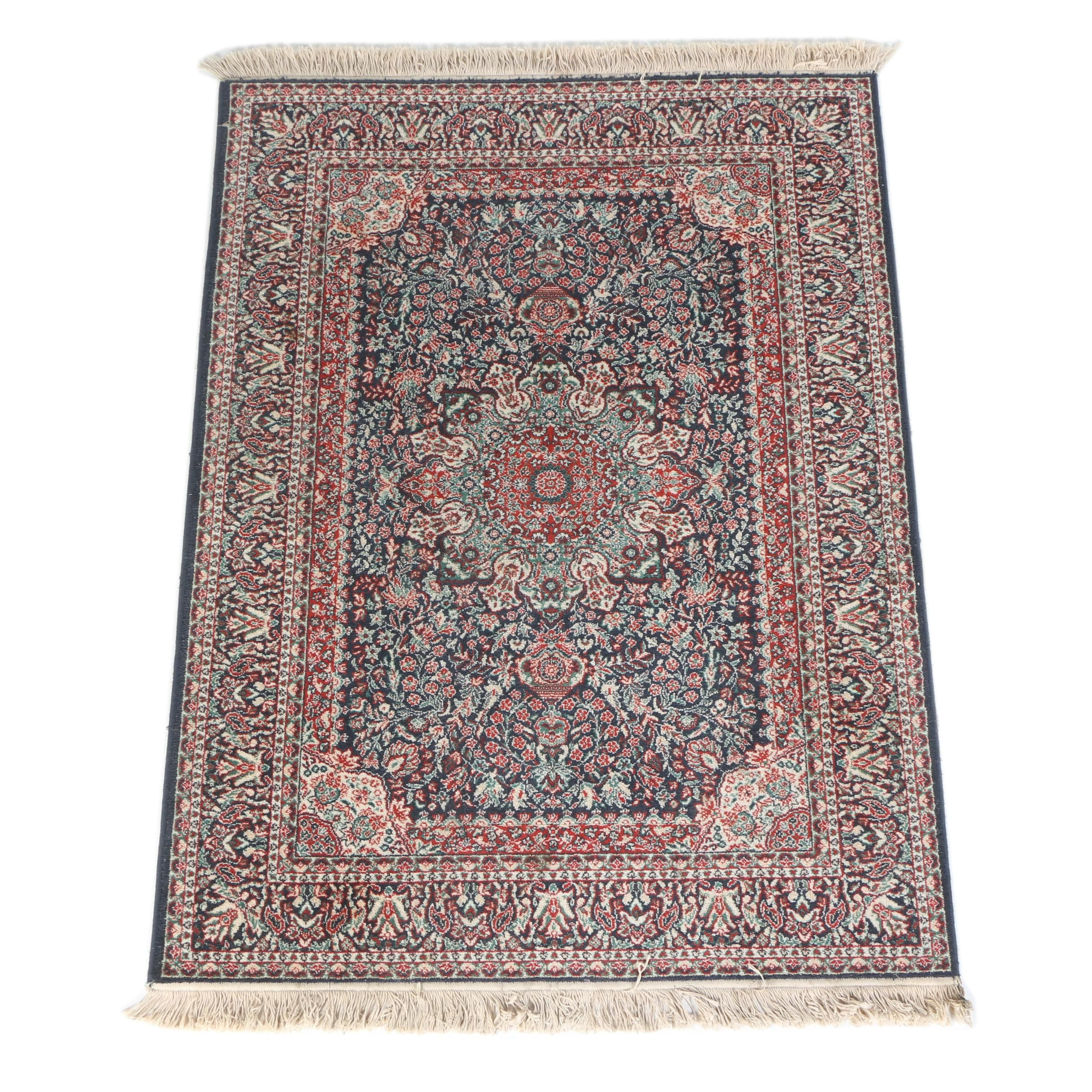 Power-Loomed Persian Tabriz Style Wool Area Rug