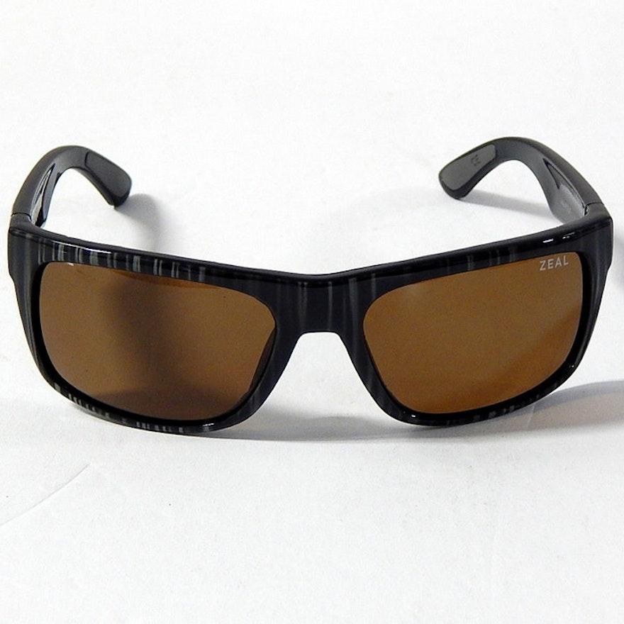 52d4624ca3e34 Zeal Striped Essential Polarized Sunglasses   EBTH