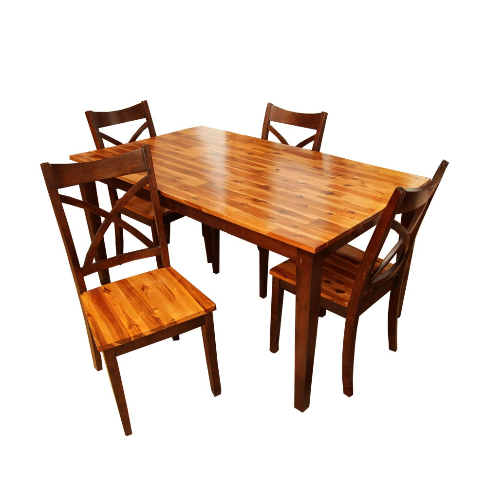 Contemporary Dining Table and Four Chairs