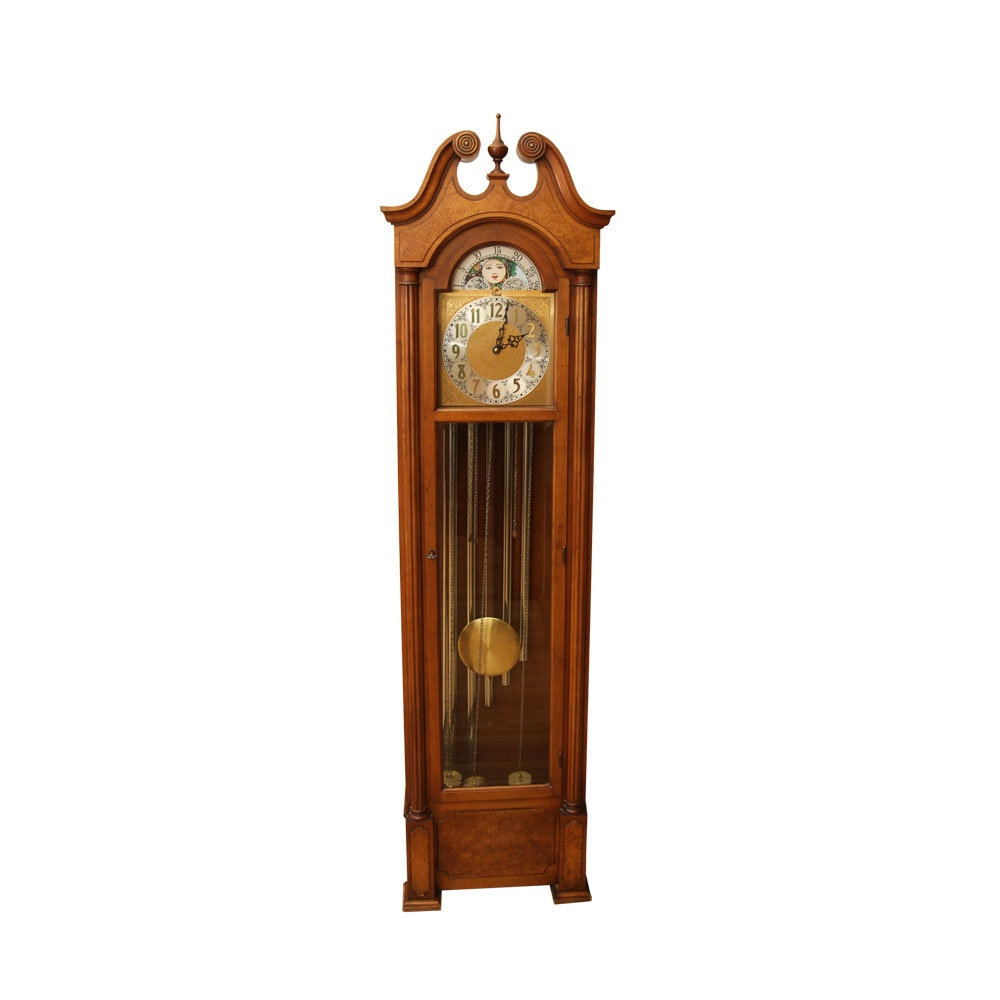 Colonial Grandfather Clock with Moon Phase Dial