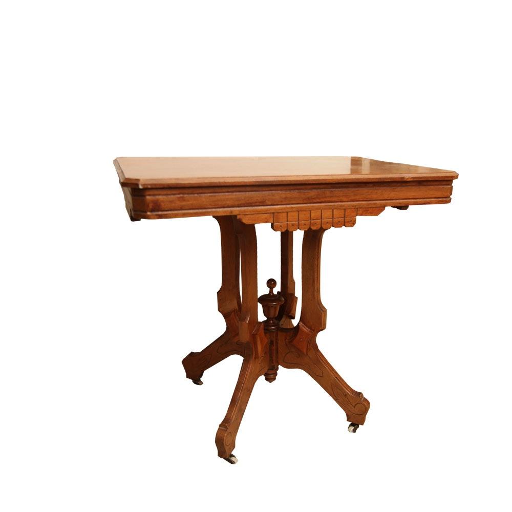 Antique Eastlake Walnut Side Table
