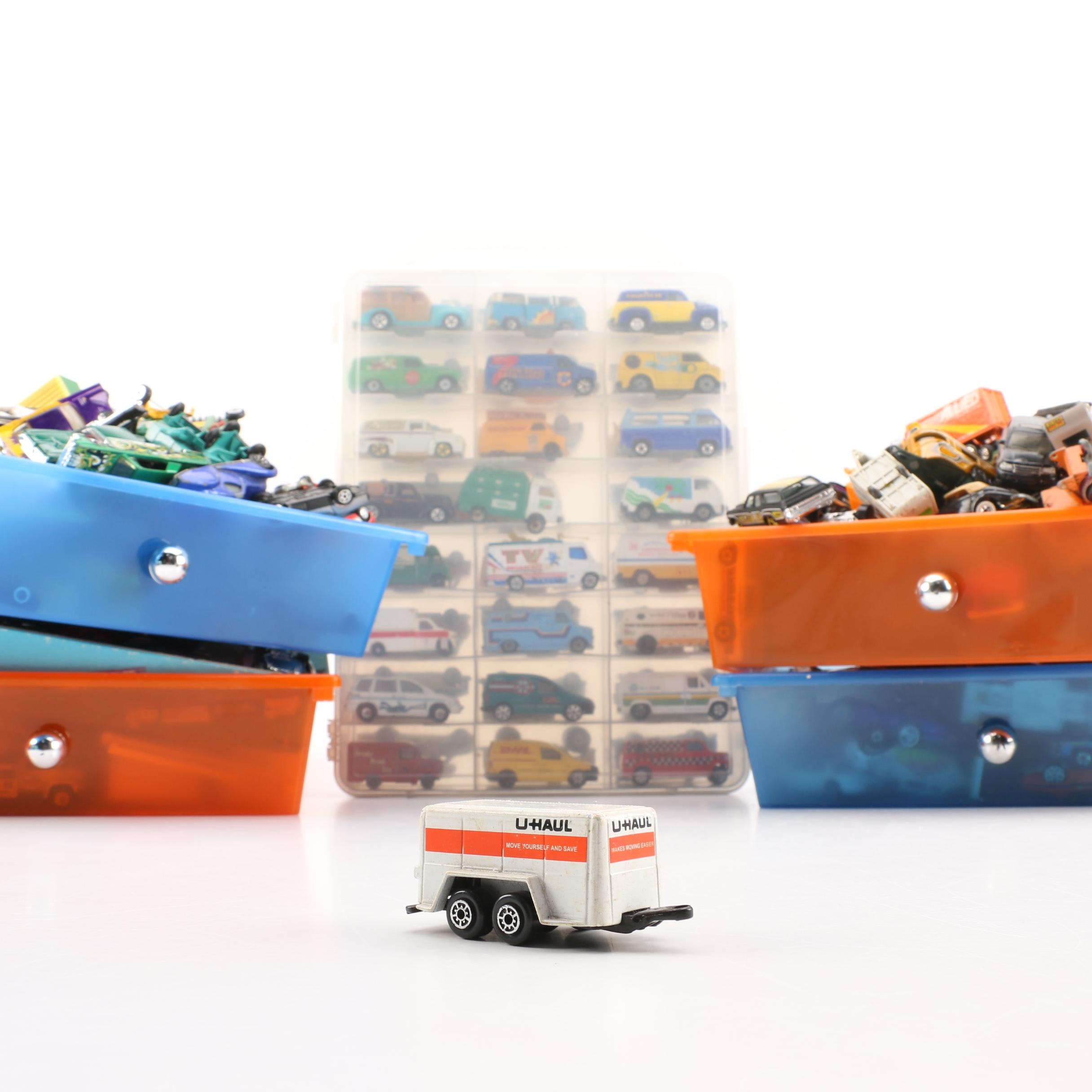 Miniature Scale Replica Die-Cast Vehicles Including Hot Wheels and Lesney