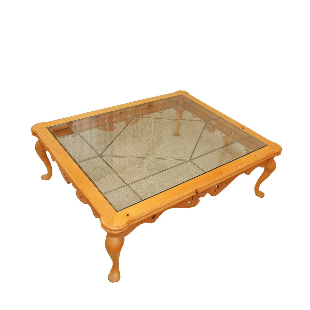 Queen Anne Style Pine Coffee Table