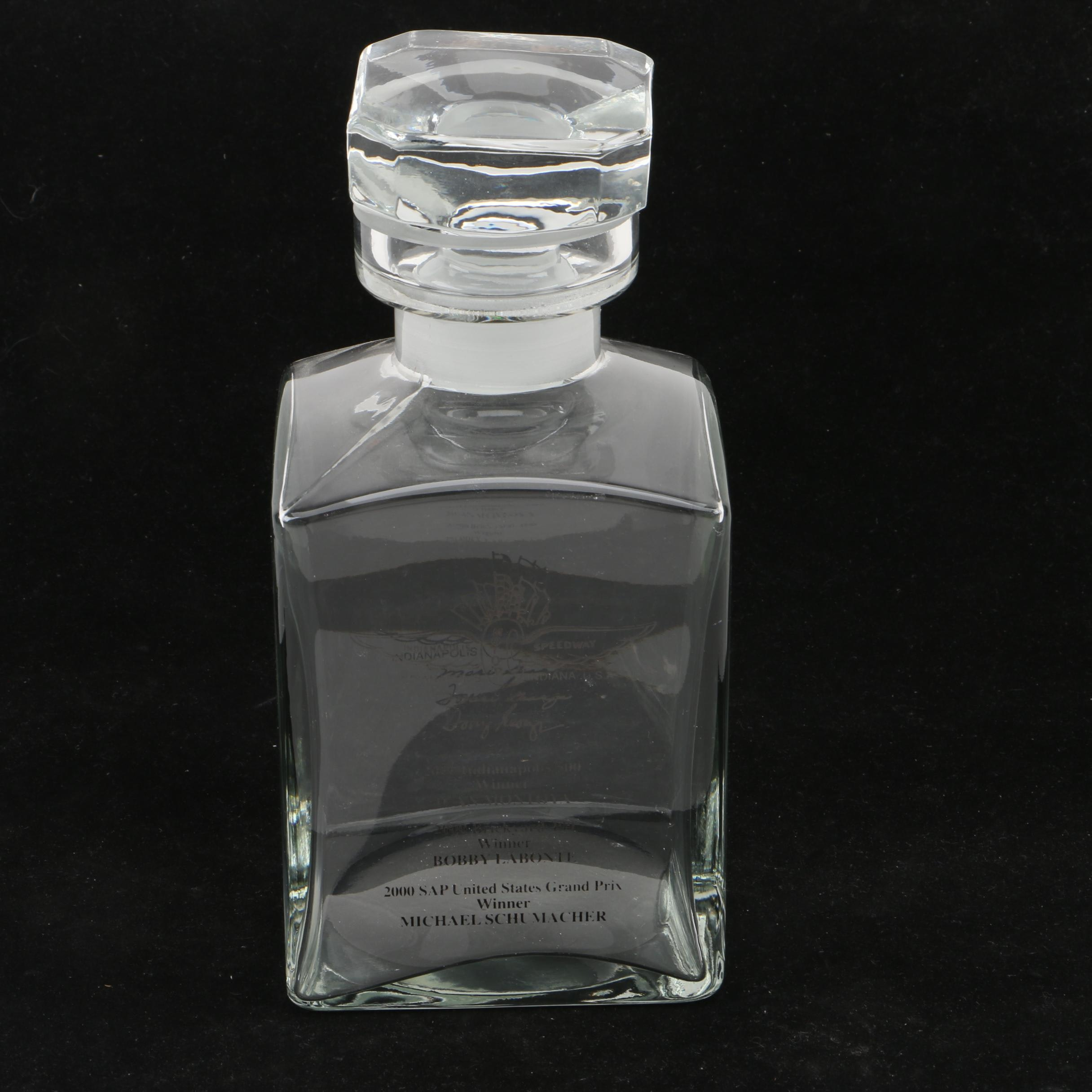 Indianapolis Motor Speedway Commemorative Decanter