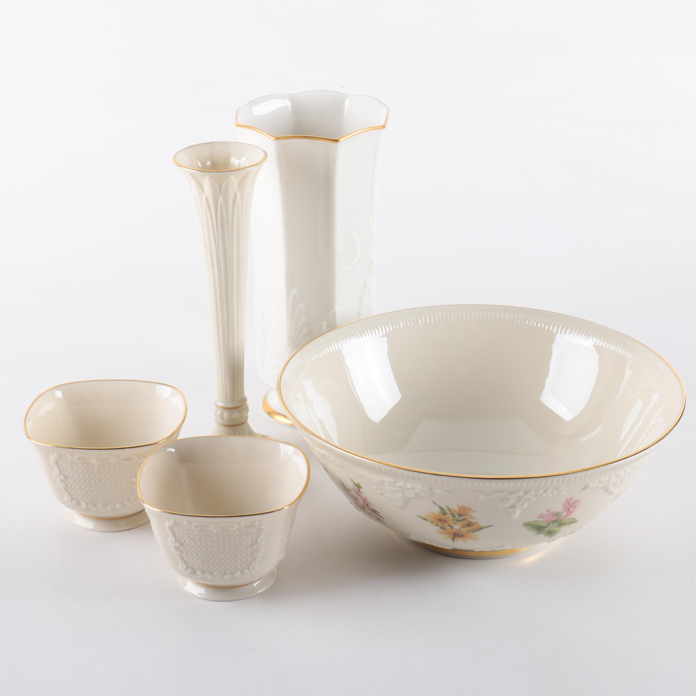 Lenox and Noritake Porcelain Vases and Bowls