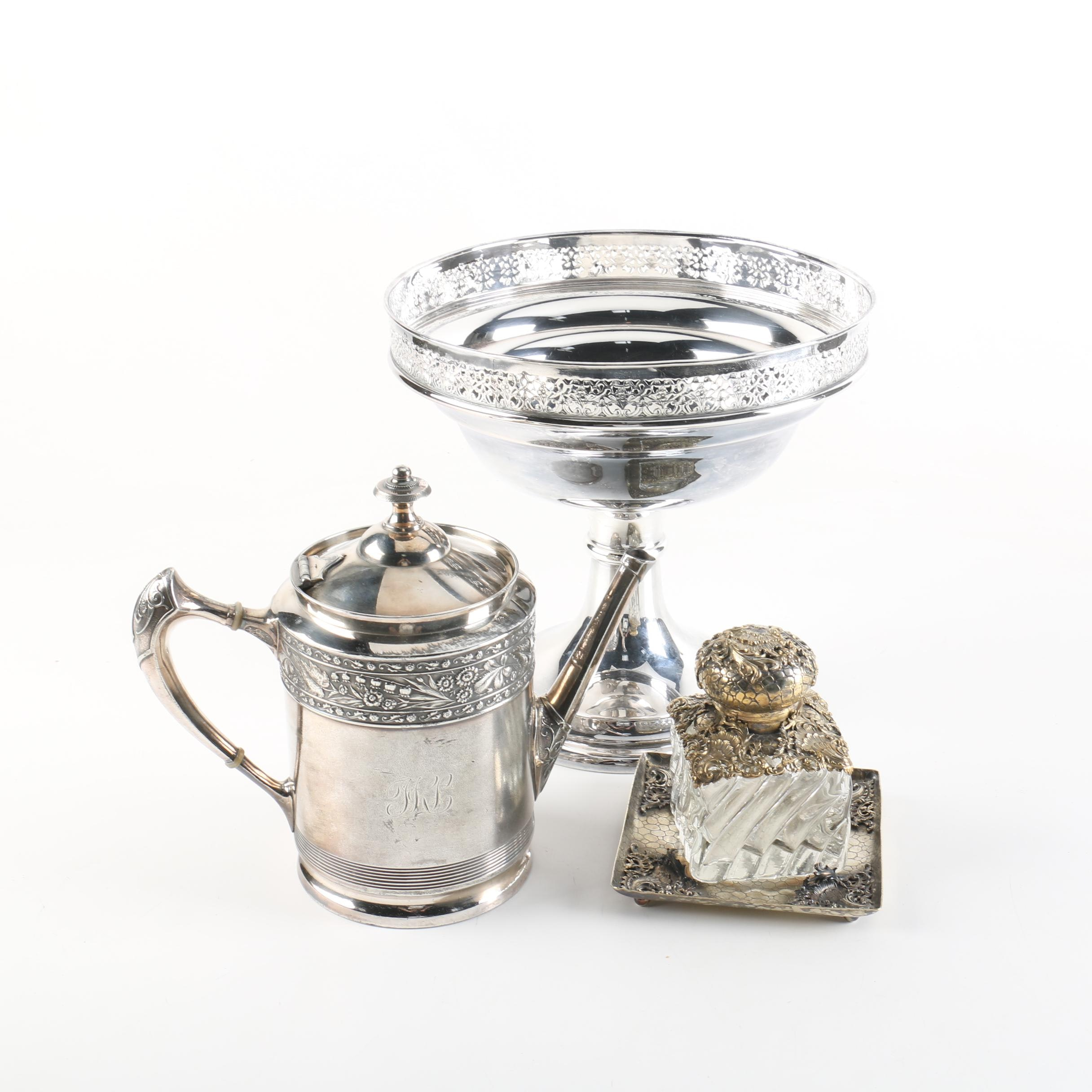 Middletown Aesthetic Movement Silver Plate Teapot and Other Pieces
