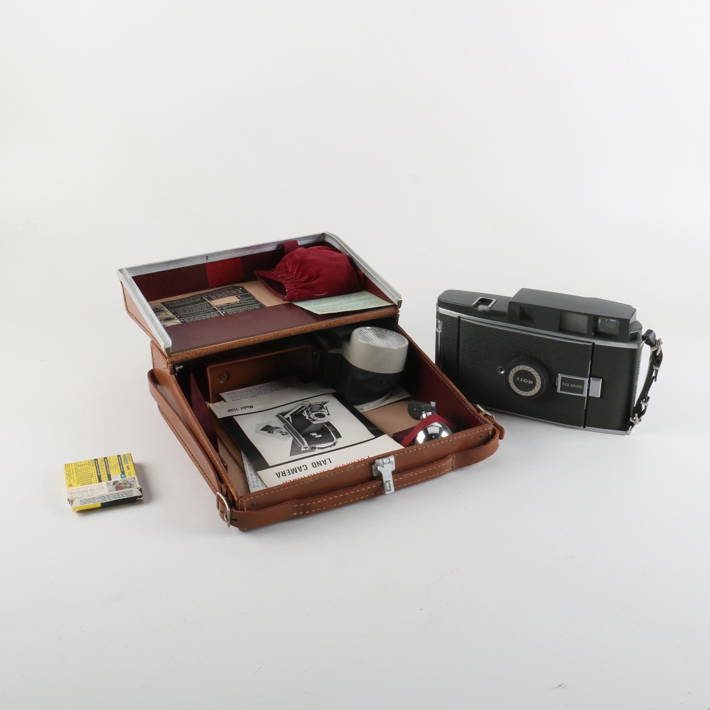 Polaroid 110 Still Camera with Case and Accessories