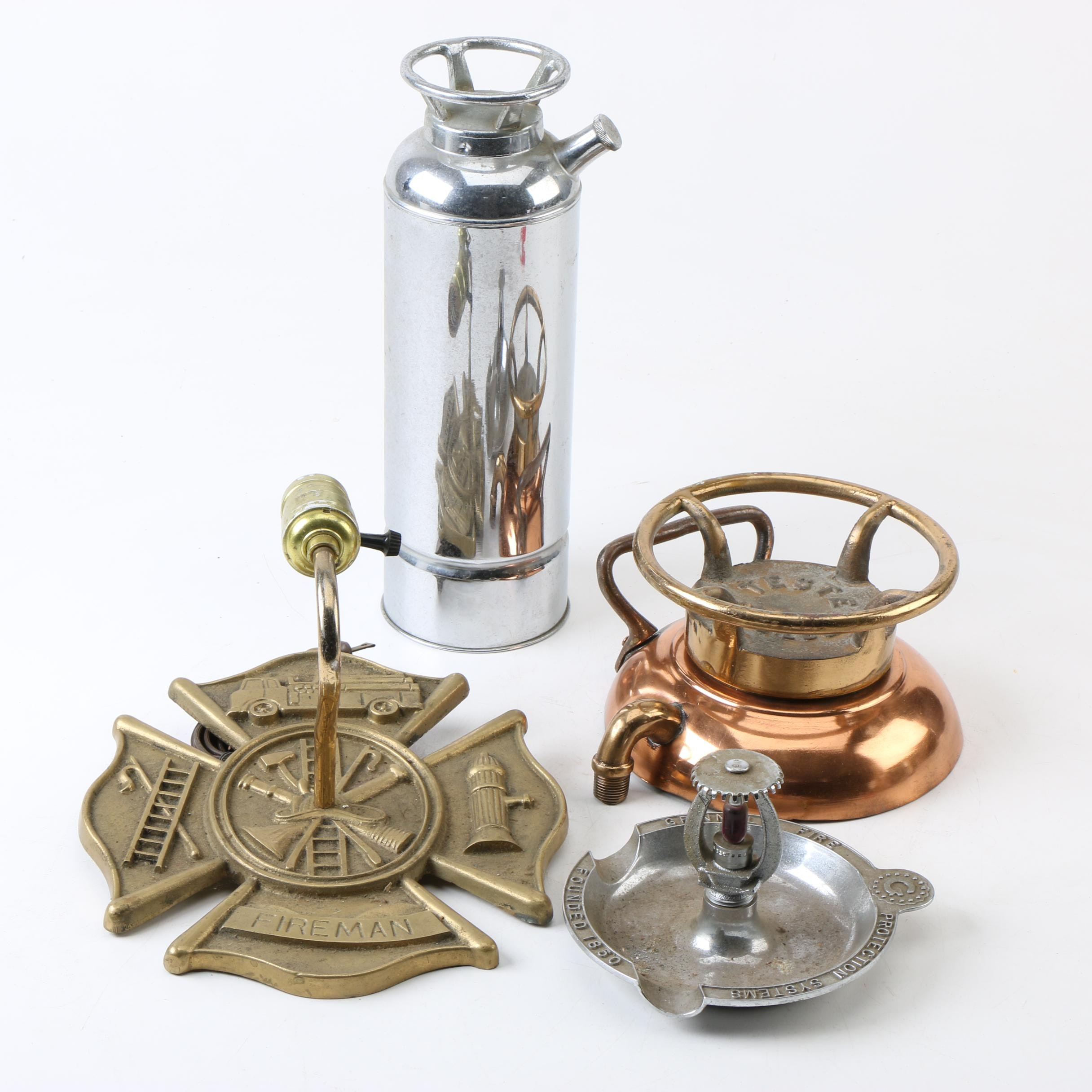 Fire Fighting Décor Including Wall Lamp