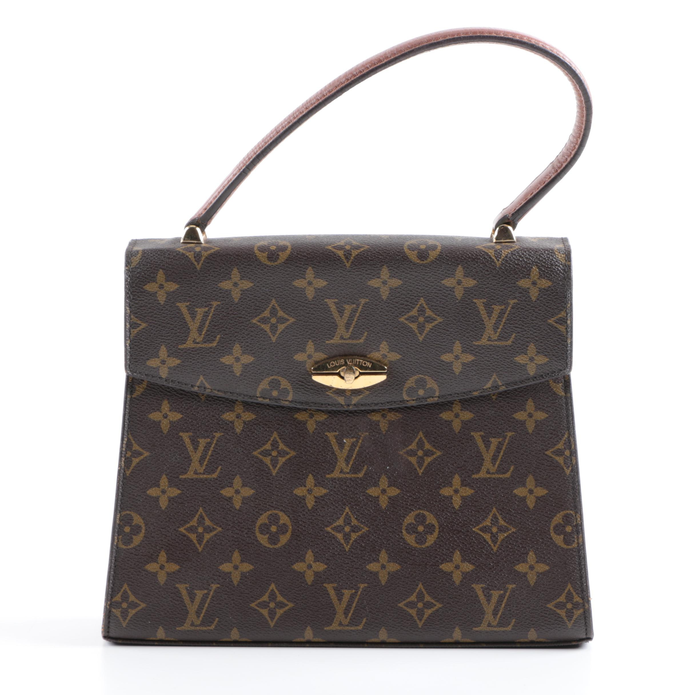 1991 Louis Vuitton Malesherbes Monogrammed Canvas Handbag