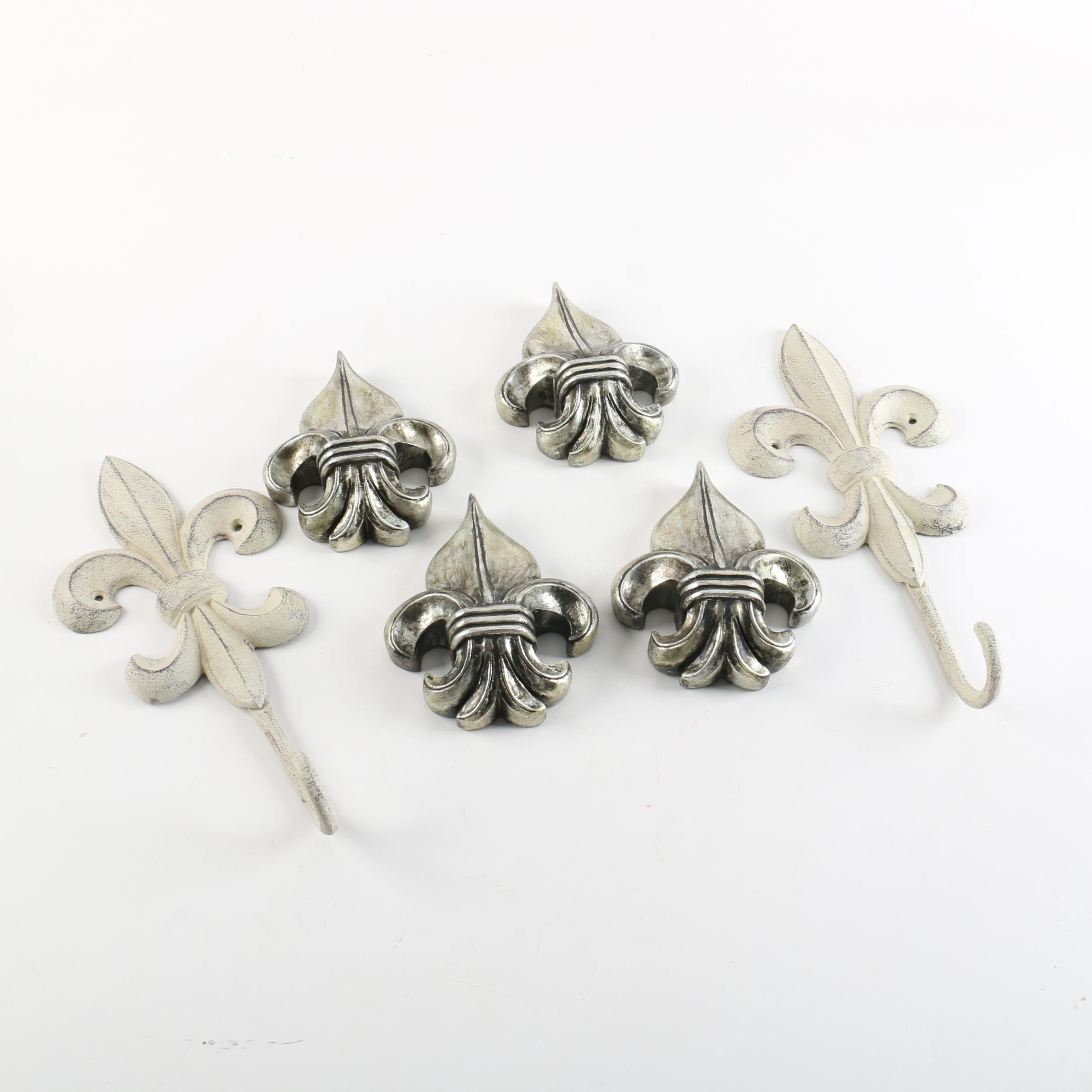 Fleur de Lis Wall Decor and Hooks