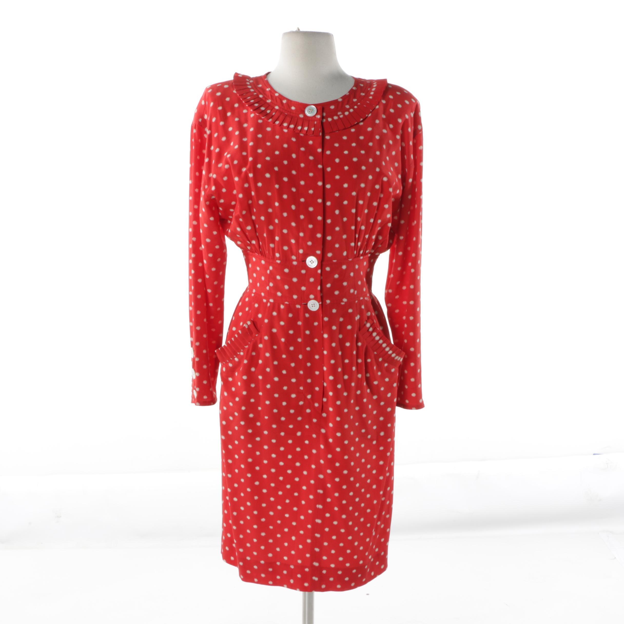 Vintage Valentino Miss V Silk Dress