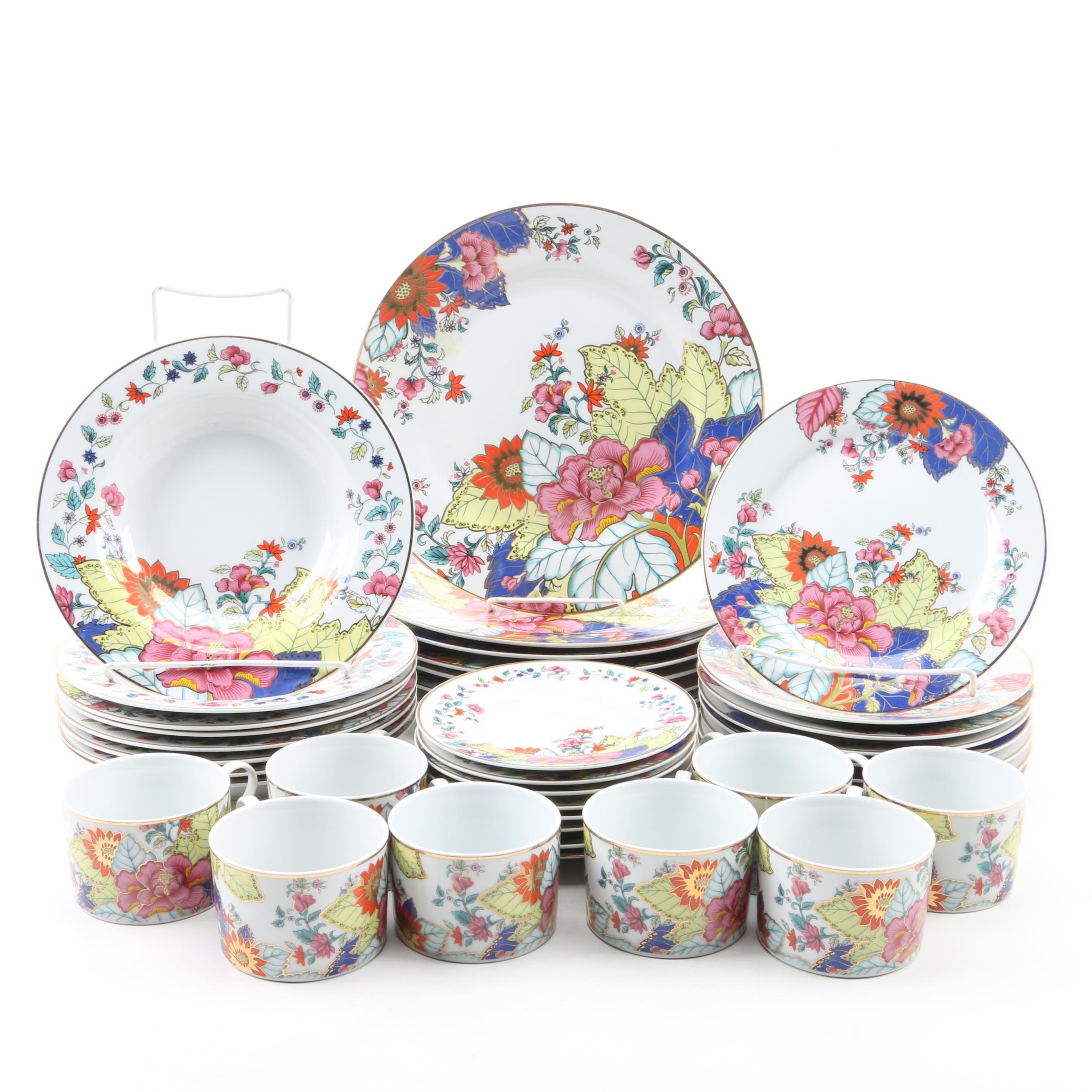 """Design Guild """"Tobacco Leaf"""" Porcelain Tableware"""