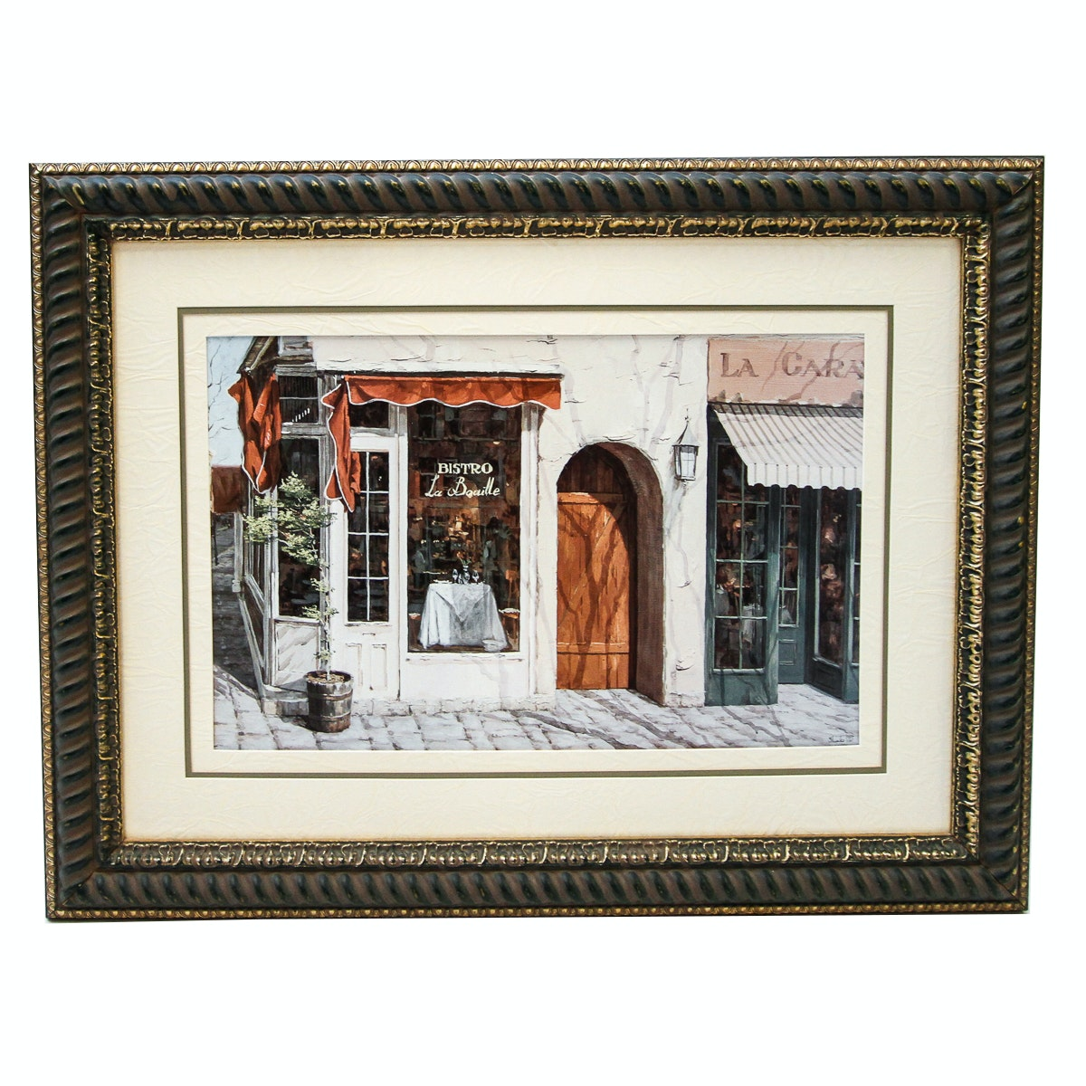 "Art Print After Viktor Shvaiko ""Bistro La Bouille"""