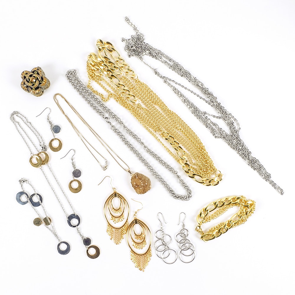 Silver and Gold Costume Jewelry