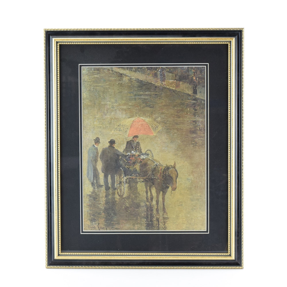 """Paul Sawyier Limited Edition Offset Lithograph """"The Street Peddler"""""""