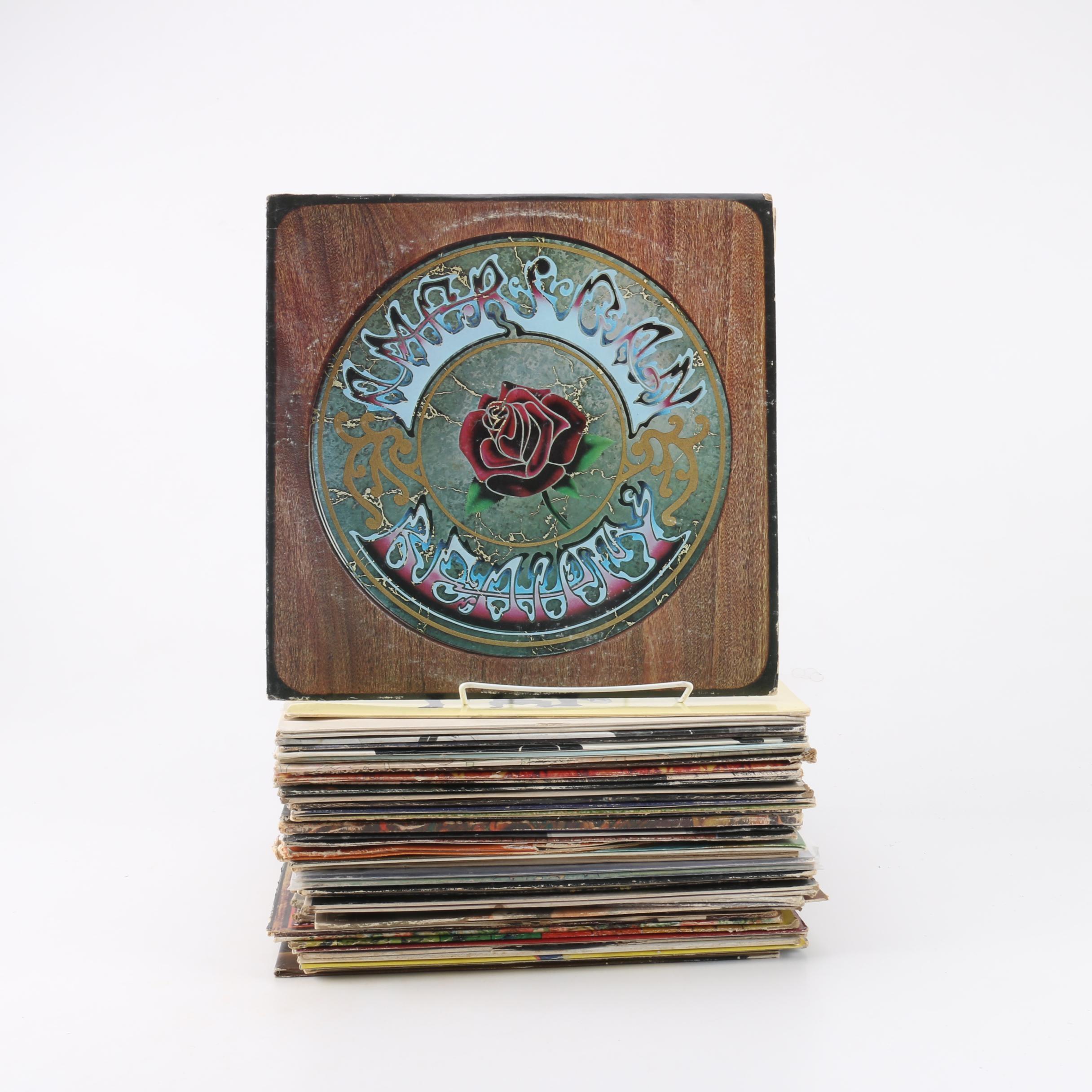 Vintage Classic Rock Records Including Grateful Dead, Fleetwood Mac, The Beatles