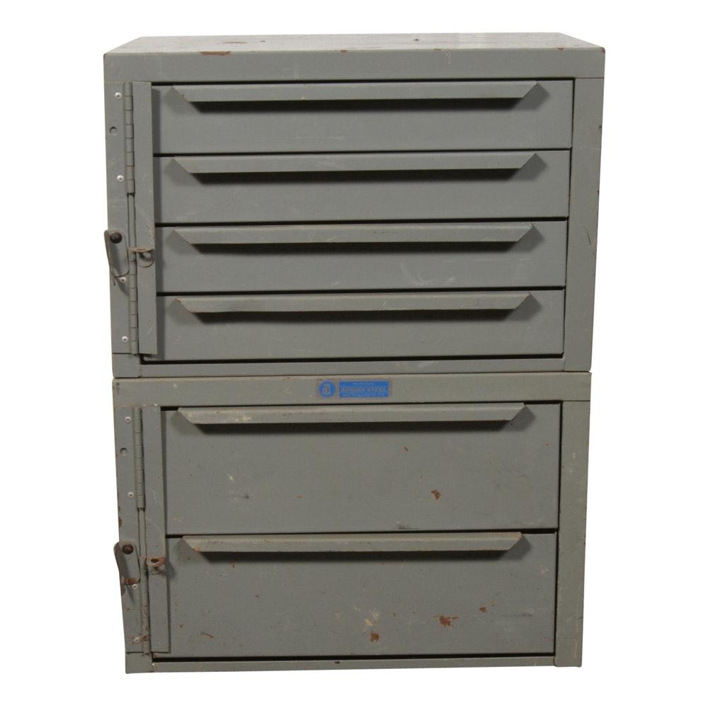 Adrian Steel Grey Cabinets