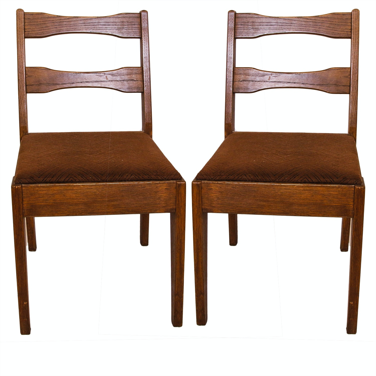Vintage Oak Side Chairs
