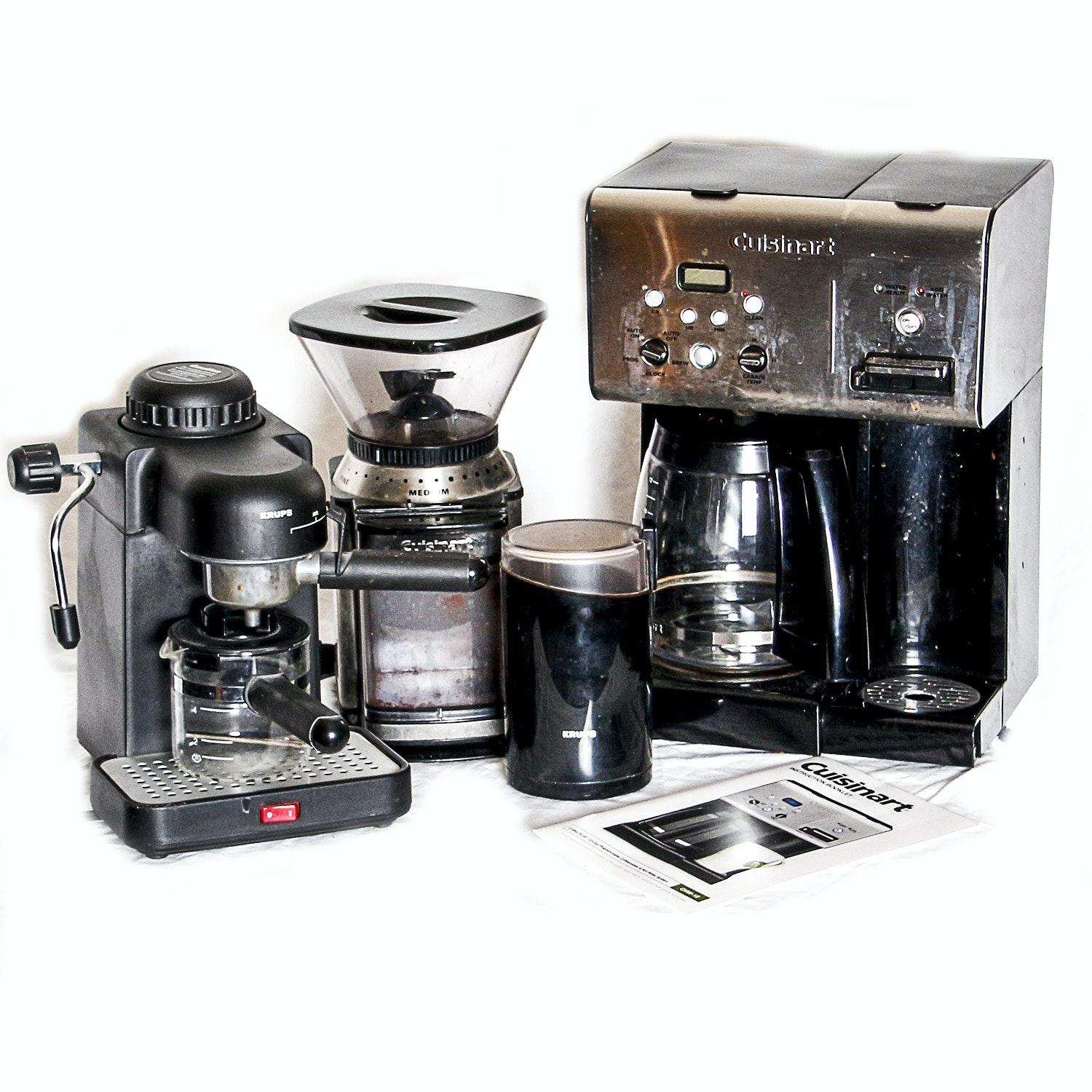 Cuisinart Coffee Maker CHW-12, Krups Espresso Maker and Coffee Grinders