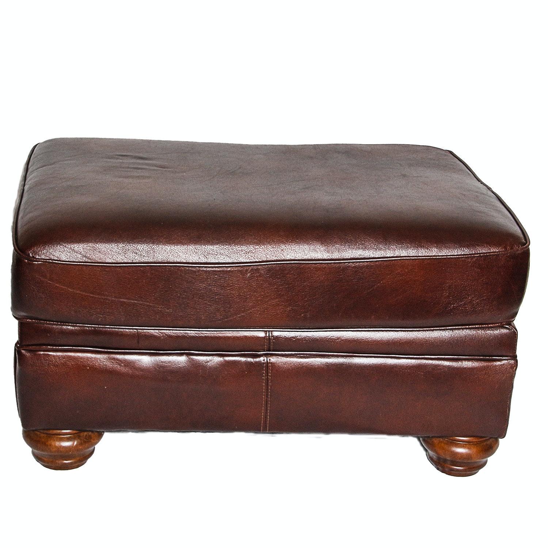 Faux Leather Ottoman
